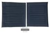 "Medline WCA806920NVYS 18"" Wheelchair Upholstery Set -Navy"