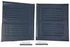 "Medline WCA806927NVYS 20"" Wheelchair Upholstery Set - Navy"