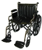 McKesson Wheelchair  Removable Desk Arms Mag Black