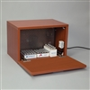 HCL 4833 Medication Warming Cabinet, Mahogany with Bar Pull