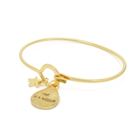 """One in a Million"" Bracelet in Matt Gold  - BLK01G"