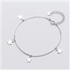 Four Star Bracelet in Solid Sterling Silver - BLQ70S