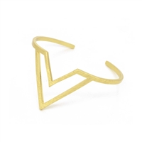 Geometric Bangle in Brushed Gold - BLS43G