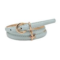 Single Star Charm Belt in Pale Blue - BTQ04P