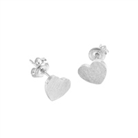 Small Heart Earrings in Sterling Silver Plate - EAK08S