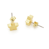 Small Star Earrings in 20K Matt Gold Plate - EAK15G