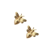 Little Bee Earrings in 20K Satin Gold Plate - EAK29G