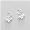 Hoop and Pearl Earrings in Solid Sterling Silver - EAQ155S