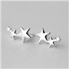 Shooting Star Trio Cluster Earrings in Solid Sterling Silver - EAQ20S