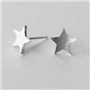 Matt Star Earrings in Solid Sterling Silver - EAQ22S