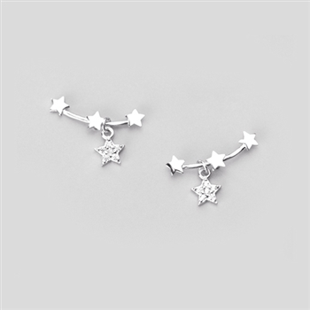 Shooting and Crystal Star Earrings - EAQ72S
