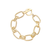 Twin Loop  and Bar Bracelet in Gold - LBQ20G