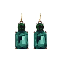 Simple Emerald Gem Earrings - LTE08E