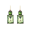 Lime Gem with Crystal Earrings - LTE08L