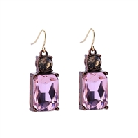 Pink Gem Earrings - LTE08P
