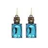 Simple Turquoise Gem Earrings - LTE08T