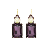 Burgundy Earrings - LTE08U