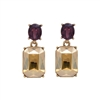 Amber Gem Earrings - LTE09A