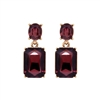 Burgundy Gem Earrings - LTE09B