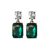 Emerald Gem Earrings - LTE09E