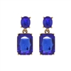 Royal Blue Gem Earrings - LTE09R