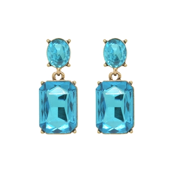 Turquoise Gem Earrings - LTE09R