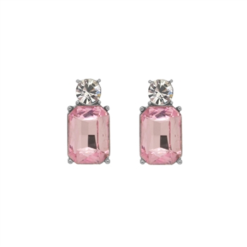 Mini Pink Gem Earrings - LTE10P