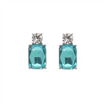 Mini Turquoise Gem Earrings - LTE10T