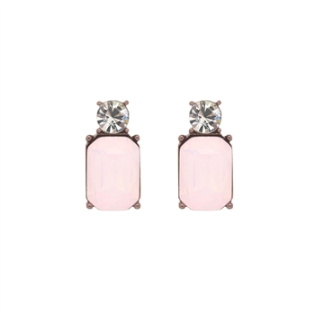 Mini Opal Pink Gem Earrings - LTE11O