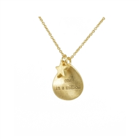 """One in a Million"" Necklace in Matt Gold  - NLK01G"
