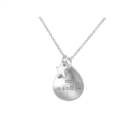 """One in a Million"" Necklace in Sterling Silver Plate  - NLK01S"