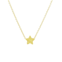 Small Star Necklace in 20K Matt Gold Plate - NLK15G