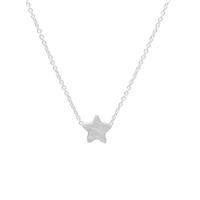 Small Star Necklace in Sterling Silver Plate - NLK15S