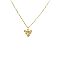 Little Bee Necklace in 20K Satin Gold Plate - NLK29G