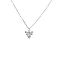 Little Bee Necklace in Satin Sterling Silver Plate - NLK29S