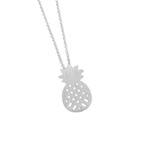 Pineapple Necklace in Matt Sterling Silver Plate - NLL26S