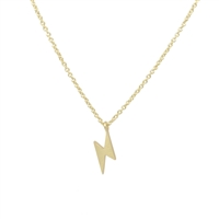 Lightning Strike Necklace in 20K Matt Gold Plate - NLL36G
