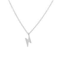 Lightning Strike Necklace in Sterling Silver Plate - NLL36S