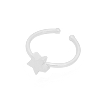 Small Star Ring in Sterling Silver Plate- RNL15S