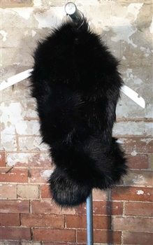 Over-Size Faux Fur Stole in Black- SCF20B