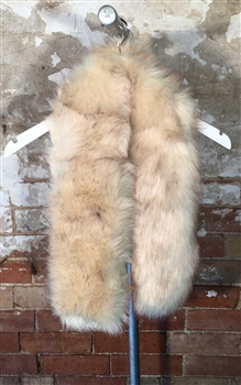 Over-Size Faux Fur Stole in Cream - SCF20C