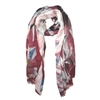 Abstract Print Scarf in Red with Blue and Grey - SCF36R