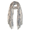 Super Soft Leopard Print Blanket Scarf with Tassel Edge in Brown - SCF38B