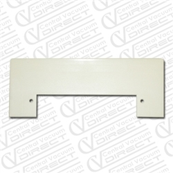 White Central Vacuum Vacpan Trimplate