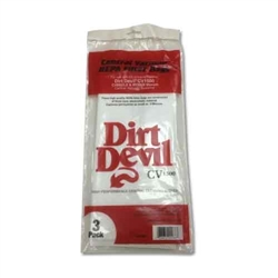 dirt devil central vacuum bag