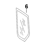 # 6. Left Side Quarter Glass - ZX or Zaxis Dash 1 / Dash 2 Zero Tail Swing (RTS) Series - HTHM3.6