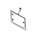 # 7. Back Glass - ZX or Zaxis Dash 1 / Dash 2 Zero Tail Swing (RTS) Series - HTHM3.7