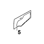 # 5. Lower Door Glass - ZX or Zaxis Dash 3 Zero Tail Swing (RTS) Series - HTHM 8.5
