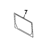 # 7. Back Glass - ZX or Zaxis Dash 3 Zero Tail Swing (RTS) Series - HTHM 8.7