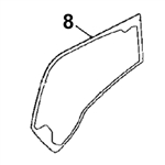 # 8. Boom Side Glass - ZX or Zaxis Dash 3 Zero Tail Swing (RTS) Series - HTHM 8.8